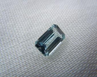 Genuine Montana Sapphire Light Blue Emerald Cut 1.24 carat