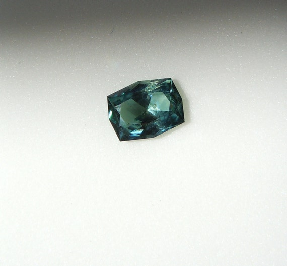 RESERVED: 1.18ct Radiant Cut Fancy Montana Sapphire