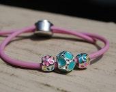 Girls Bracelet, Emma, Pink, Blue, Yellow, Beads