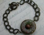Unisex Boho Jasper Disc Bracelet