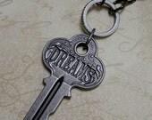 Dream Key Steampunk / Industrial / Victorian Romantic Necklace in Gun Metal Tone
