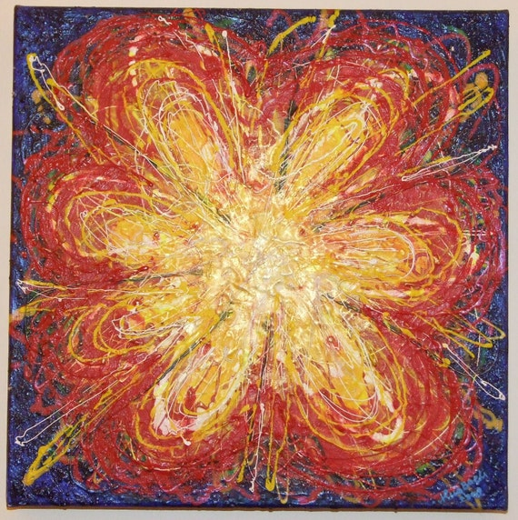 GROWING INNER FLOWER - Original Painting - Abstract Acrylics