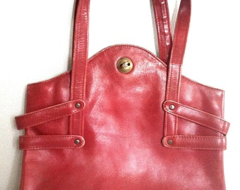 70s Red Leather Bag