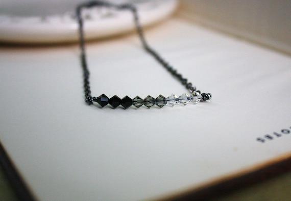 Reserved Listing For BrandMojoImages Ombre Swarovski Crystal Necklace