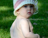 Custom Made to Order: Ruffles Oh My Set crochet diaper cover and hat