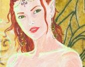 Redhead Absinthe Green Fairy Stationary 5x7 Card Set Archival Prints