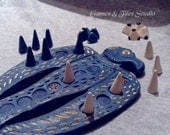 Unique 'Jiroft'  Eagle Game board   - Handmade ceramic Ancient Board game - Made to order