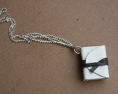 Emily Dickinson - It's all I have to bring today. Mini book necklace with poem