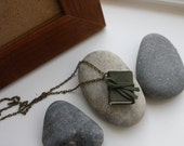 Unique Mini book necklace with poem - LIFE IS FINE by Langston Hughes