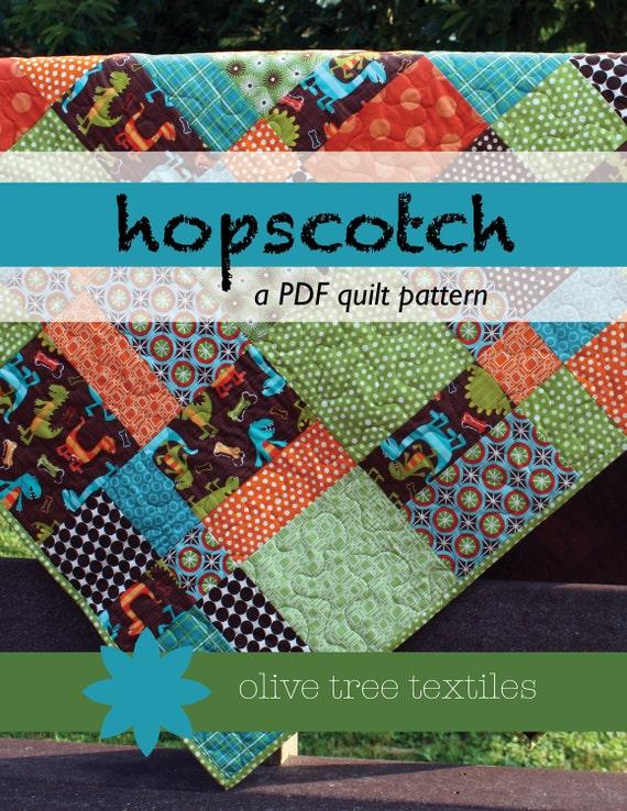PDF quilt pattern // hopscotch