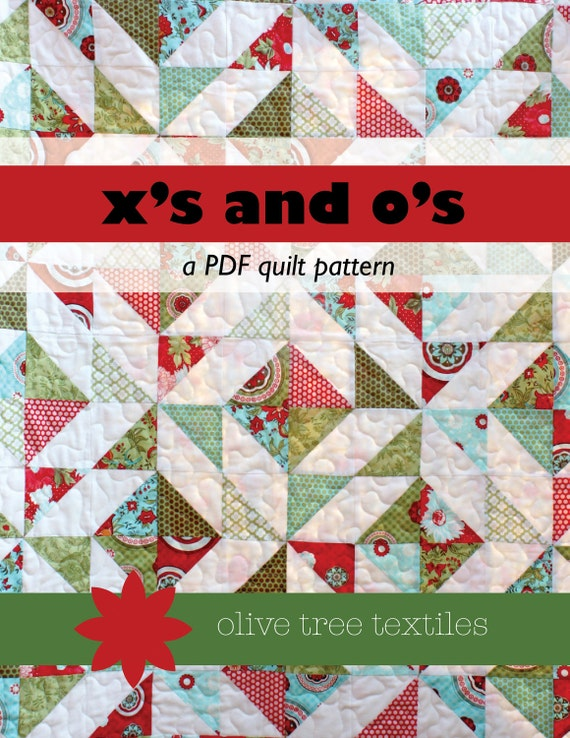 modern quilt pattern PDF // x's and o's