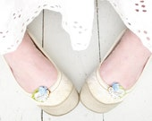 cherish in green . wedding shoe clips . something old new borrowed blue . shabby chic for the nostalgic bride