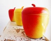 Vintage Hazel Atlas Apple Jam Jar, Set of 3