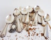 Vintage Silverplate Spoons, Assorted Lot of 12