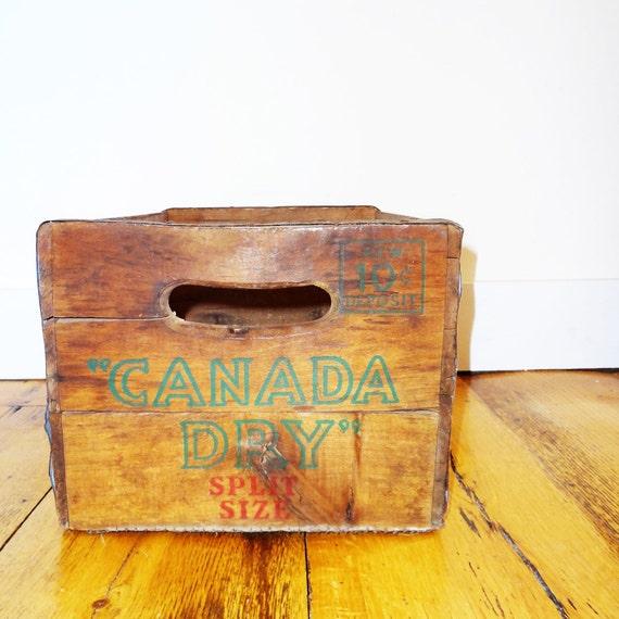 Vintage Soda Crate, Canada Dry
