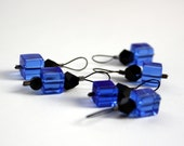 Stitch Markers, Snag Free, Doctor Who Tardis, small socks lace, blue black
