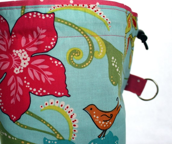 Knitting Project Bag Reversible Drawstring Cord Lock by ...