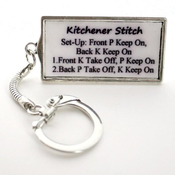 Items Similar To Kitchener Stitch Keychain, Stitch Marker
