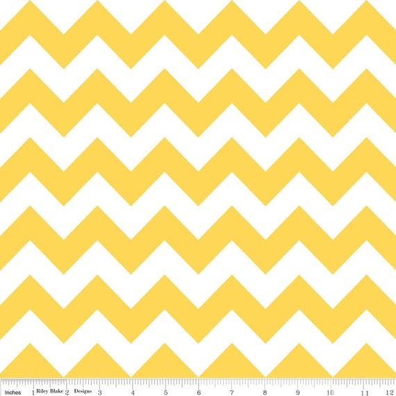 Chevron Fabric - Yellow - Riley Blake - 1 Yard