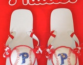 Phillies - flip flops - Free shipping WEEKEND ONLY in honor of National Flip Flop Day