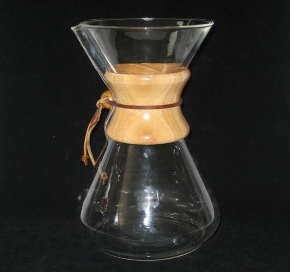 Vintage Chemex Drip Coffee Maker 6-8 Cup Carafe Pot Pyrex Glass