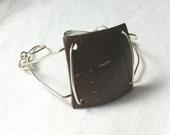 COCO - Coconut Shell & Silver Bracelet