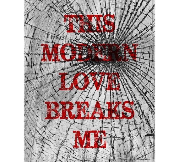 This Modern Love Breaks Me - Broken Glass - Red Bloc Party 8 x 10 Print