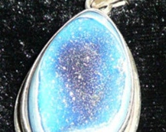 DRUSY QUARTZ PENDANT in Sterling Silver