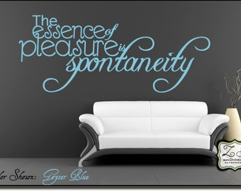 "The essence of pleasure  23""w x 9.3""h (IN031)- Vinyl Wall Art/ vinyl decal for walls, tiles, doors, windows, mirrors, crafts, and more"