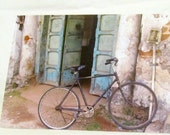 Greeting Card Set Bike Gift for Cyclist Bicycle Card Open Doors Blank Cards Set of Eight eco friendly