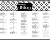 Custom Wedding Seating Chart - Fully Customizable
