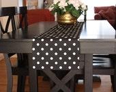 Table Runner Black and White Polka Dot Table Runners Polka Dot Table Runners - Select a Size