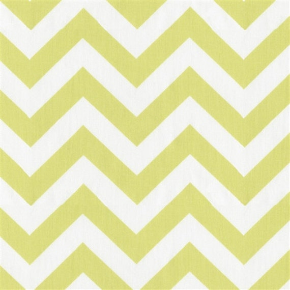 """CLEARANCE SALE - 1 - 12X48"""" Light Lime Green and White Chevron Table Runner"""
