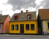 """Lund, Sweden - """"A Yellow House"""" - Fine Art, Travel Photography, Various sizes / matted available"""