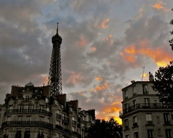 """Eiffel Tower, Paris, France - """"Sunset in Paris"""" - Fine Art, Travel Photography, Various sizes / matted available"""