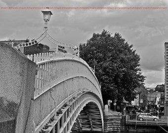 """Dublin, Ireland - """"Bridge Over the River Liffey"""" - Fine Art, Travel Photography, Various sizes / matted availabl"""