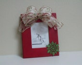 Picture Frame 5x7 CHRISTMAS BOW