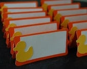 Rubber Duck Place Cards, Rubber Duck Seating Cards, Rubber Duck Party,  Birthday, Baby Shower, 12 Pcs