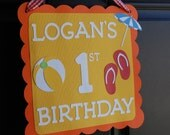 Pool Party Door Sign, Swimming Pool Party, Beach Theme, Swimming Pool Birthday