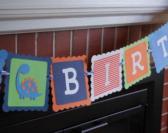 Dinosaur Happy Birthday Banner, Dinosaur Theme, Dinosaur Birthday Party, Dino First Birthday Banner, Dino-Mite Birthday,