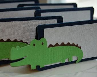 Alligator Food Labels, Place Cards, Alligator Party, Alligator Baby Shower, Alligator Theme, 12 Pcs