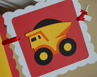 Dump Truck Happy Birthday Banner, Construction Theme, Construction Birthday,