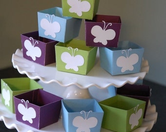 Butterfly Candy Cups, Butterfly Party Decorations, Butterfly Birthday Party, 12 Pcs Purple, Blue and Mantis