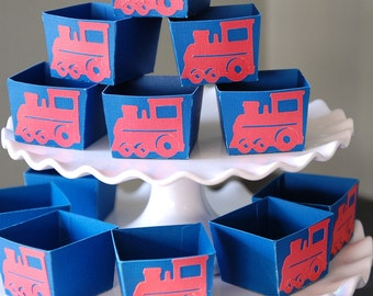 Train Candy Cups, Train Party Supplies, Train Birthday, Train Party Favors, Choo Choo, 12 Pcs