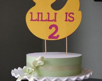 Duck Cake Topper, Duck Smash Cake, Rubber Duck Birthday, Duckie Birthday