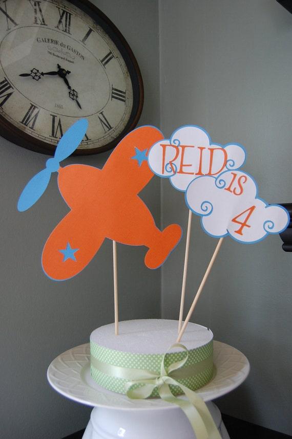 Airplane Cake Topper Airplane Smash Cake Airplane Birthday