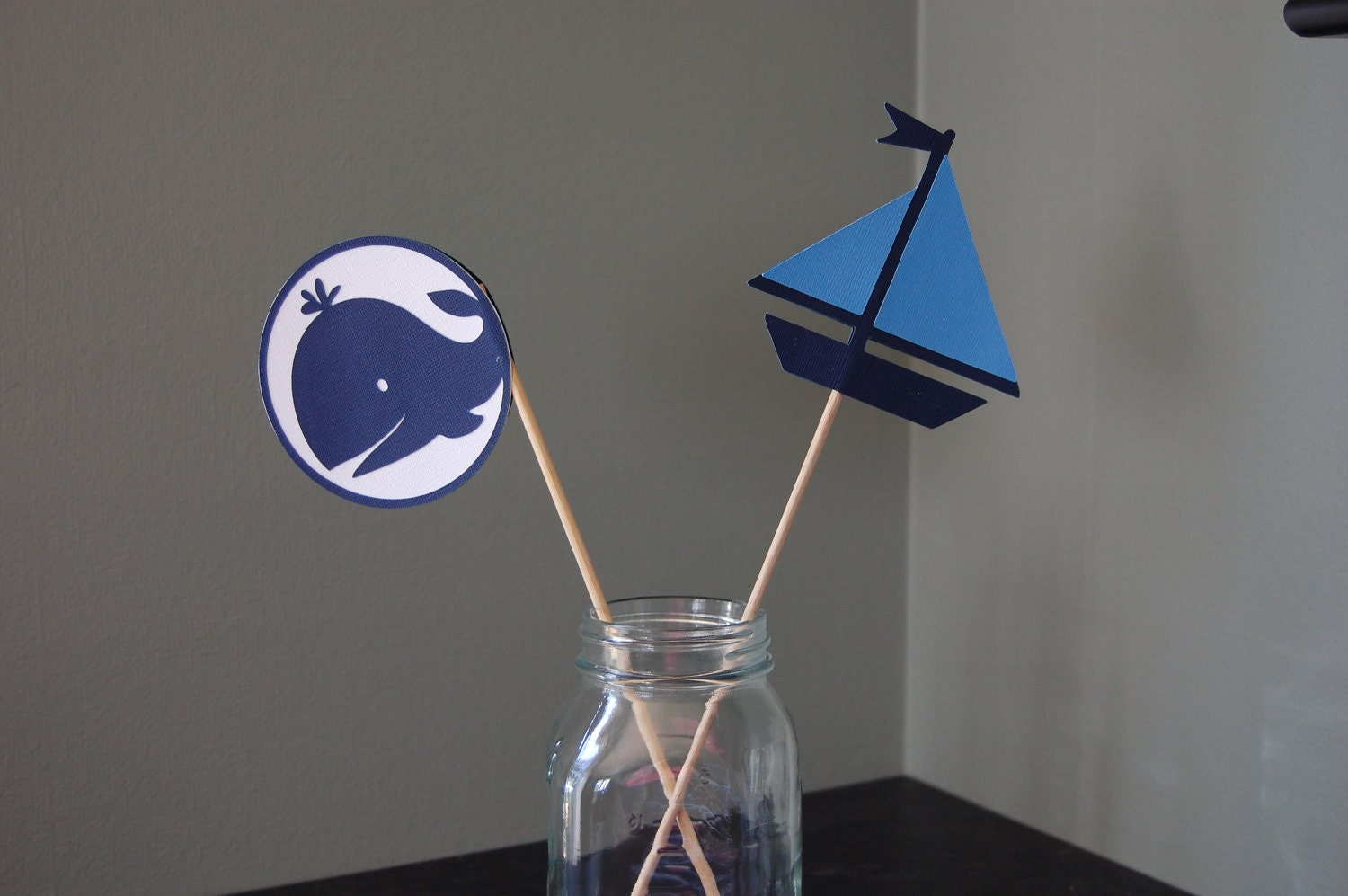 sailboat and whale centerpieces nautical centerpieces