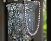 Lavender Pearl Necklace - Lilac Freshwater Pearls