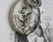 White Rabbit: Alice in Wonderland John Tenniel Necklace