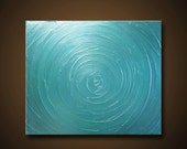 FREE SHIPPING 20x24 - High Quality Impasto Painting - Beautiful, Tranquil, Calming, and Serene - Crystal Clear Water
